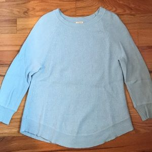 Light blue 3/4 sleeve sweater from J. Crew